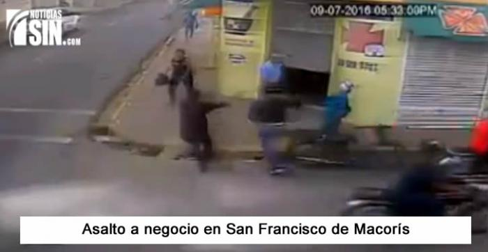 Video: Asalto a negocio en SFM