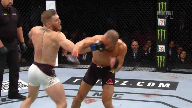 Conor McGregor vs Eddie Alvarez terminó en knock out en UFC 205