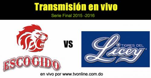 Ver en vivo Licey vs Escogido online – Serie Final 2015 – 2016