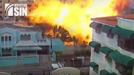 Video capta momento de explosión en Mariot Gas