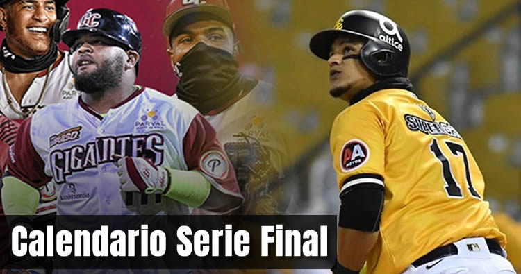 Calendario Serie Final Águilas vs Gigantes | Lidom